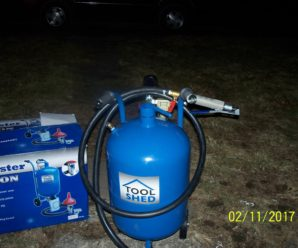 10 gallon 40 lb Capacity Pressure Tank Sand Blaster Bought