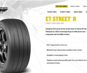 ET Street™ R (Bias), ET Street® R, ET Streetl® S/S, Pro Drag Radial, Pro Bracket Radial and ET Drag® Air Pressure Guidelines